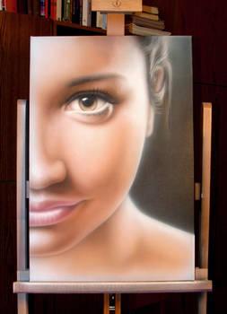 Airbrush Petra portrait