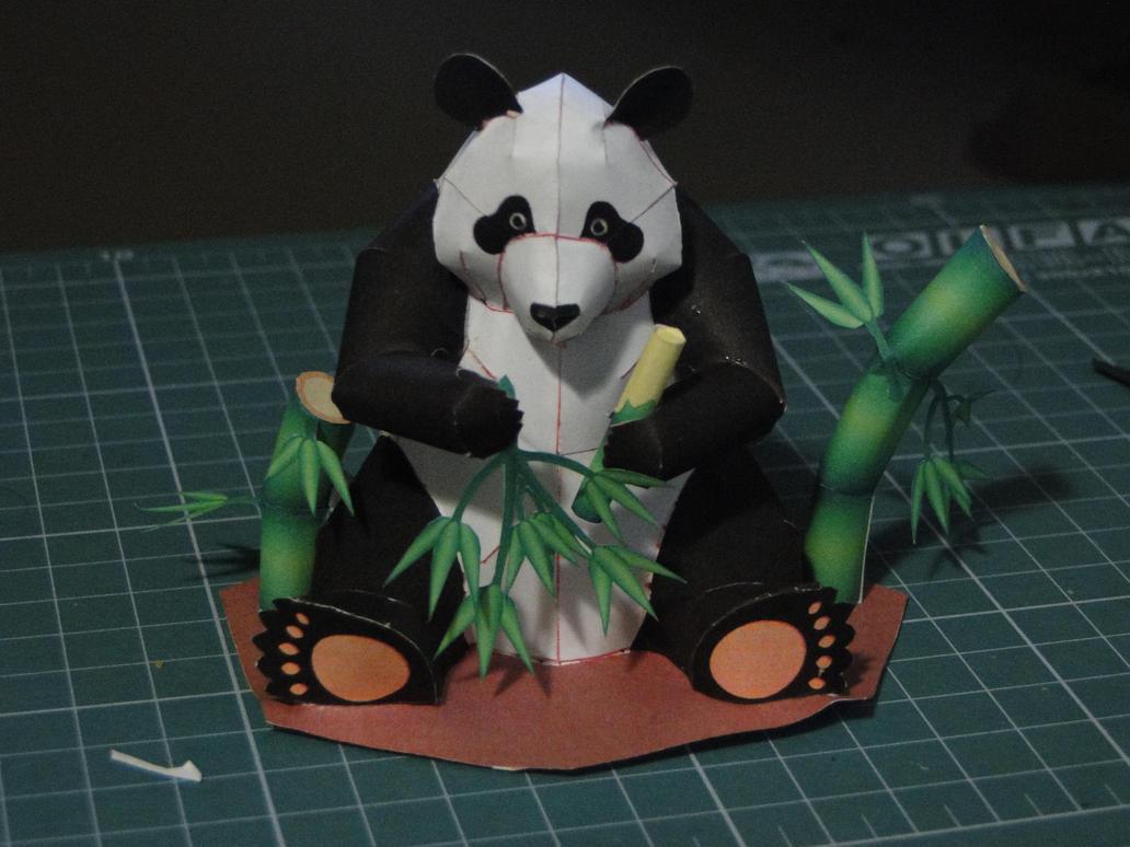 Panda Papercraft by bslirabsl