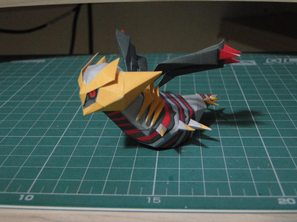 Chibi Giratina Origin Papercraft by bslirabsl