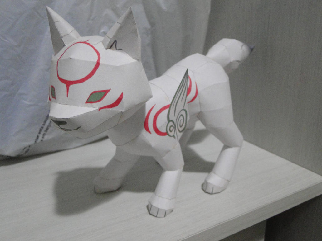 Chibiterasu Papercraft by bslirabsl