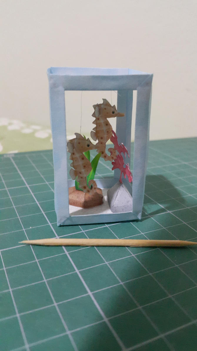 Seahorse Papercraft by bslirabsl