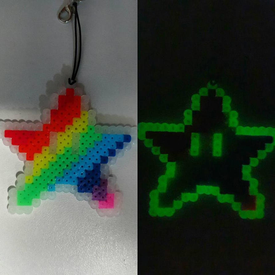 Glow in the dark mario star by bslirabsl