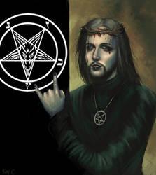 teach jesus to worship satan by xiaomeimei