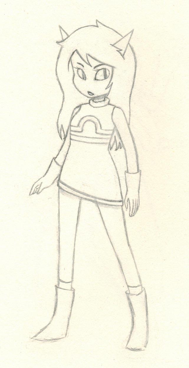 Latula Pyrope (Sketch) by CodeAwesome