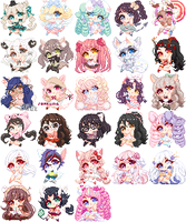 C: Fairy Floss Icon Wall by inkdrop-adopts