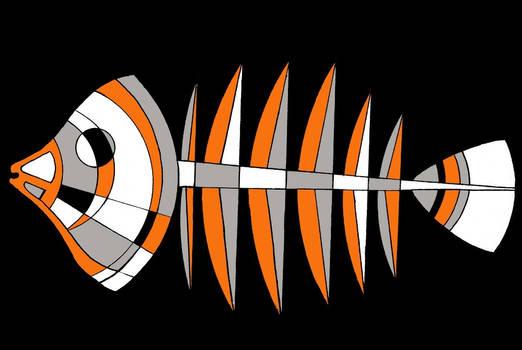 Fish Logo Bones.