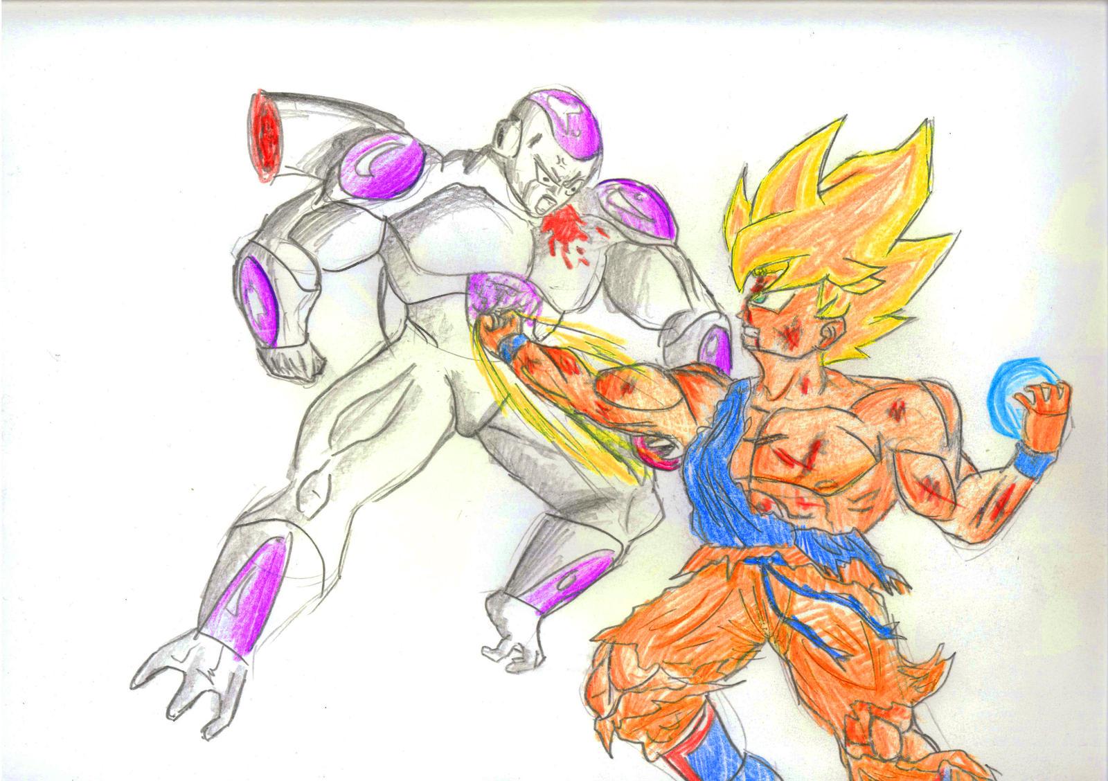 Goku vs Frieza by dragickrstajic on DeviantArt - photo#28