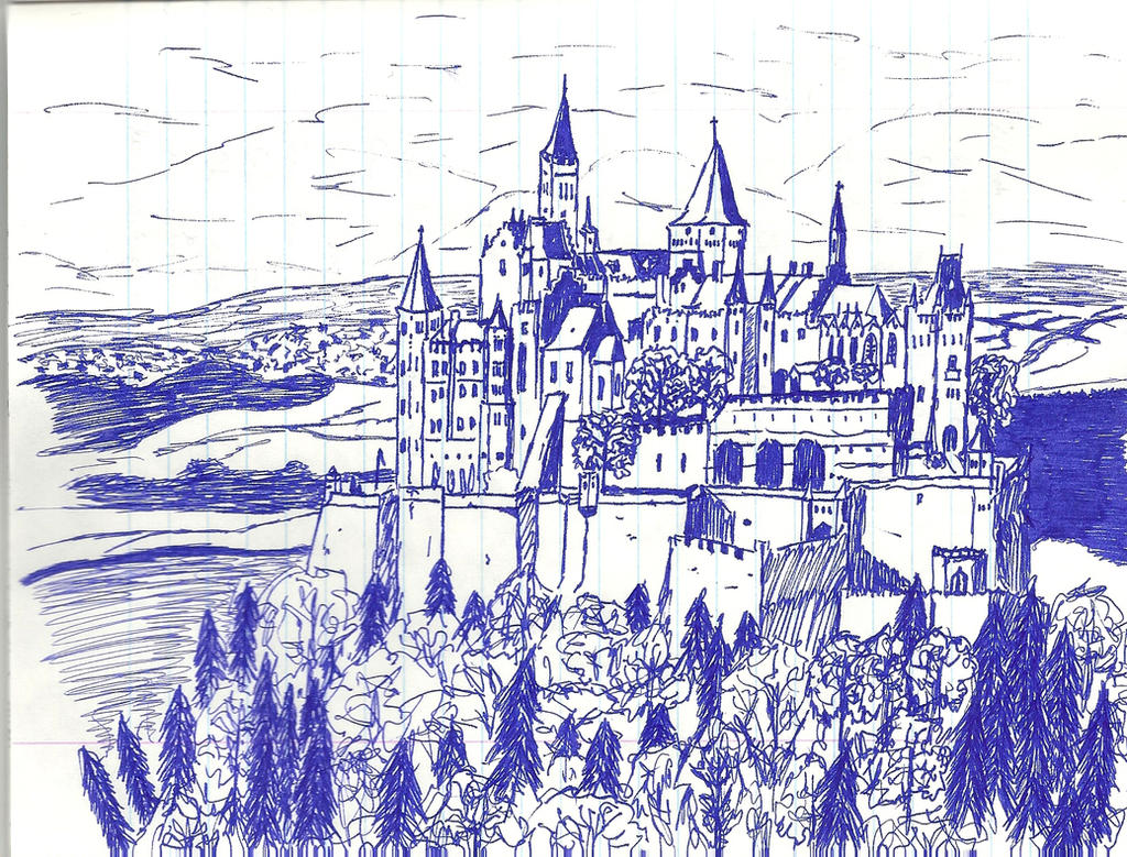 Fairy Tale Castle Drawing Fairytale castle by saint-jan