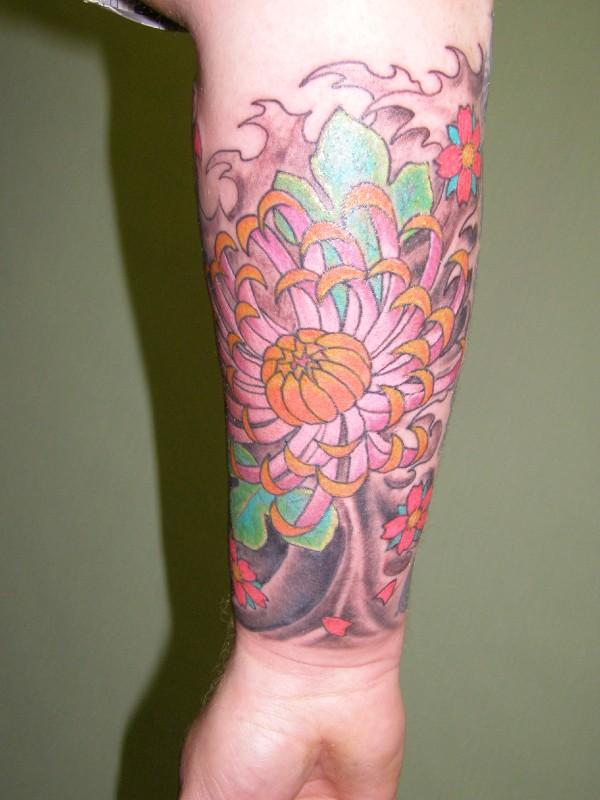 Jap flower sleeve - flower tattoo