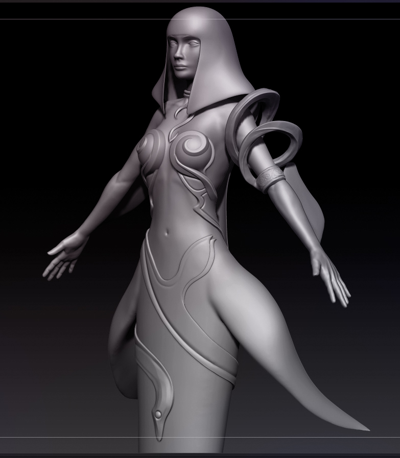 ZBrush Sculpt - 1st Character Project - Nuna by MasterPrior