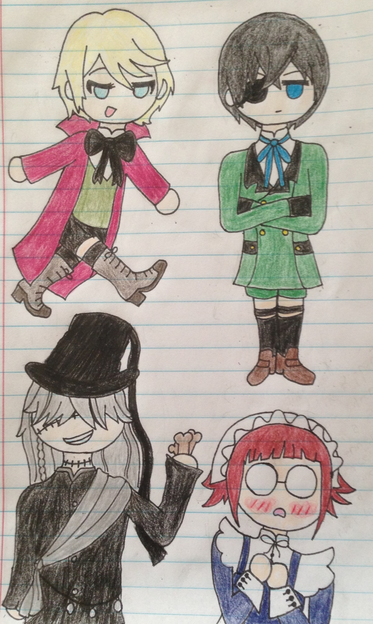 Chibi Black Butler Characters by stellapine on DeviantArt