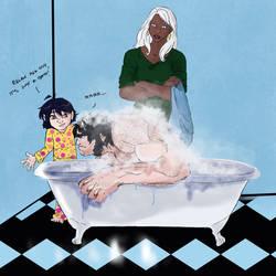 Feral Wolvie-Bath Time