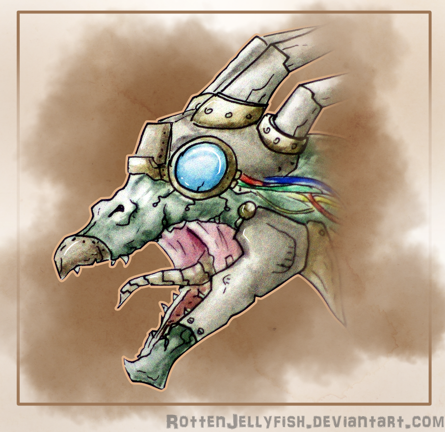 Steampunk dragon by RottenJellyfish