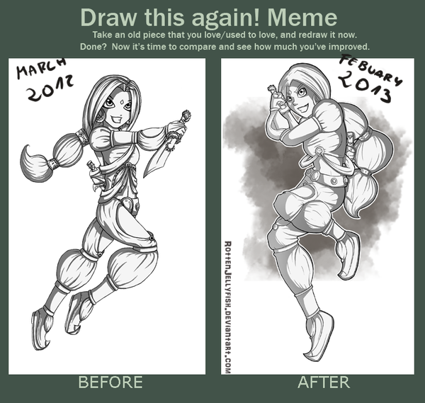 Before and After meme by RottenJellyfish