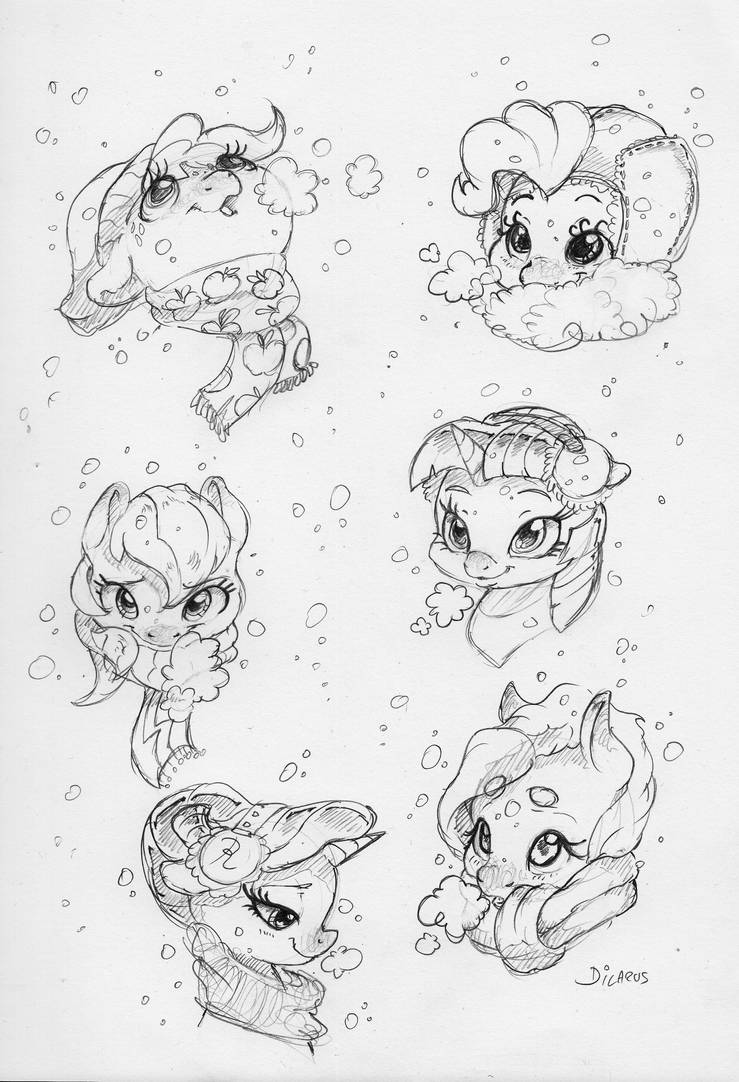Snowy Mane Six by Dilarus