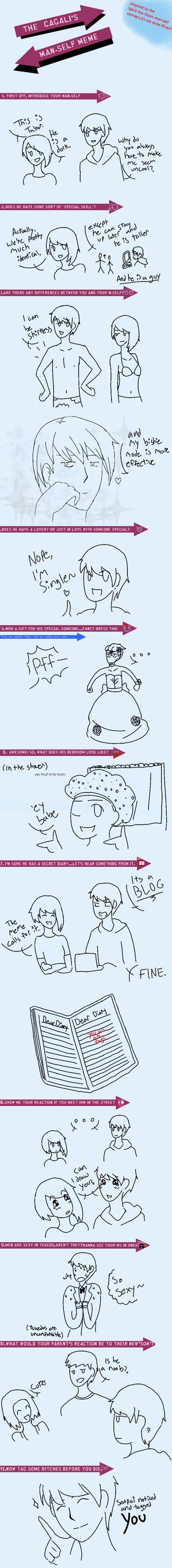 Introducing Tabor (Man-Self Meme) by TabberHatter