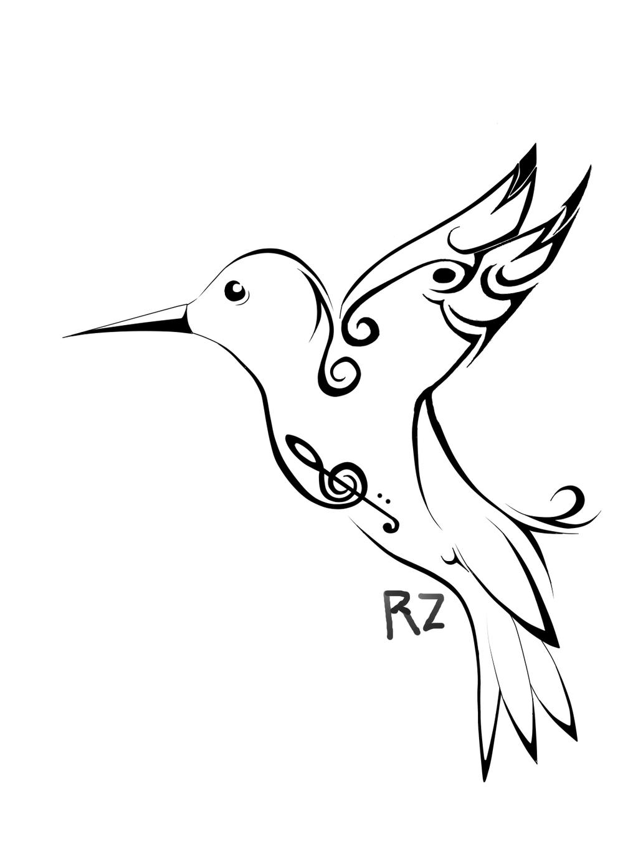 Humming bird Template tattoo by RayzenArt on DeviantArt – Bird Template