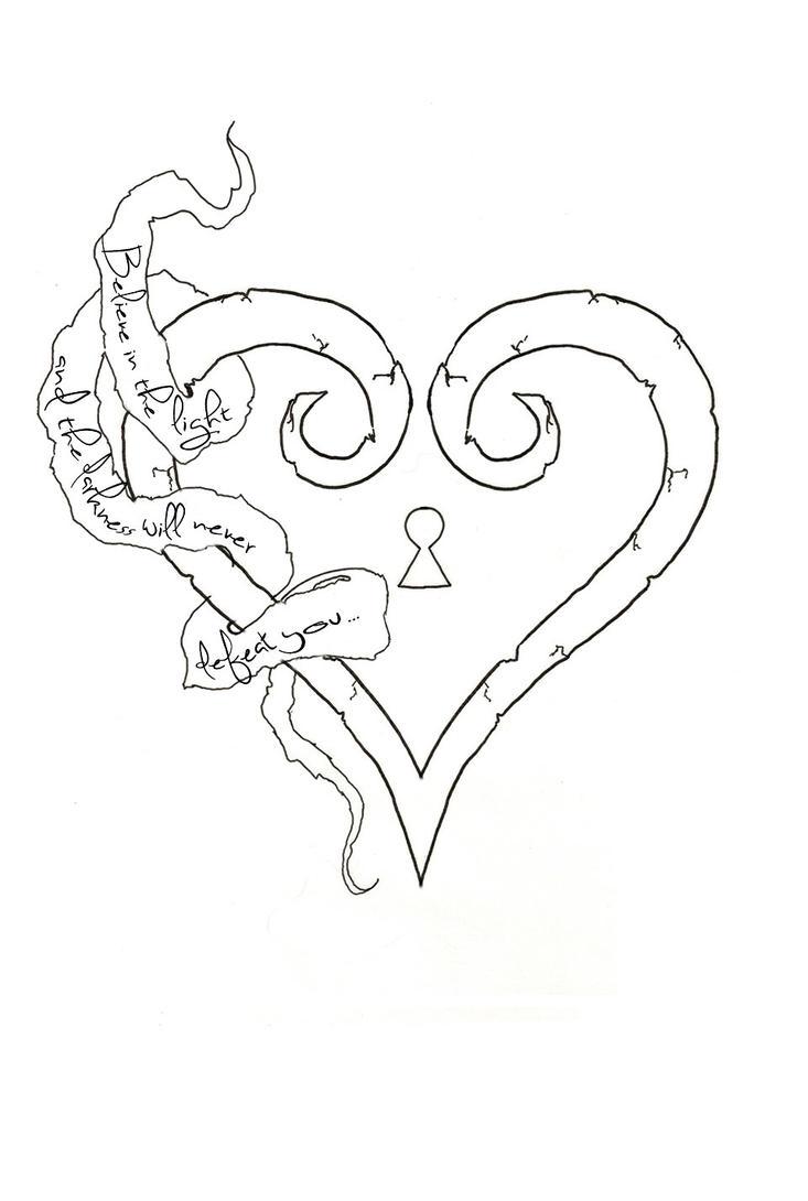 Kingdom Hearts Logo Drawings Design By