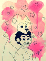 Steven and Lion by Kleoite