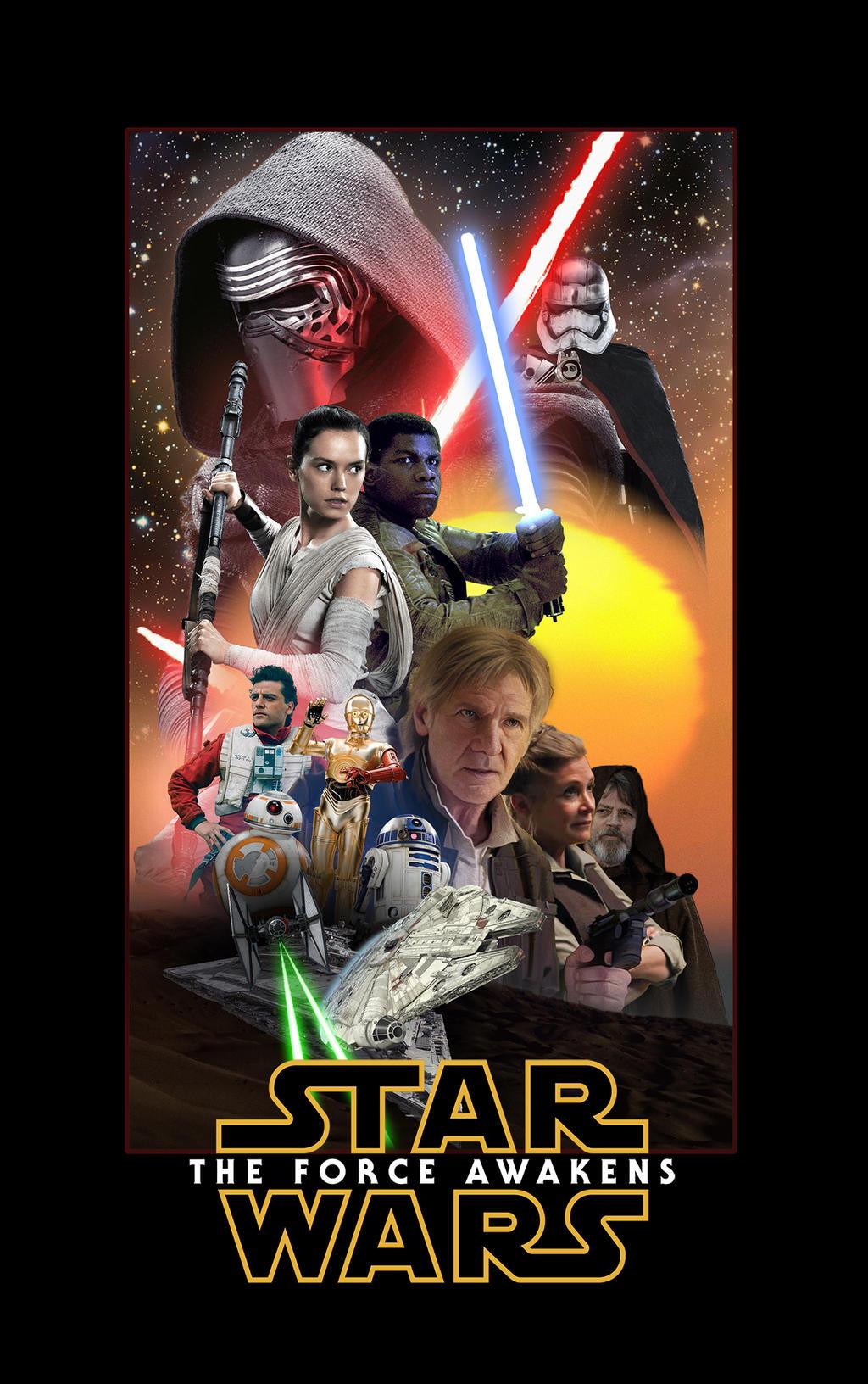 star wars the force awakens poster by dan zhbanov on deviantart