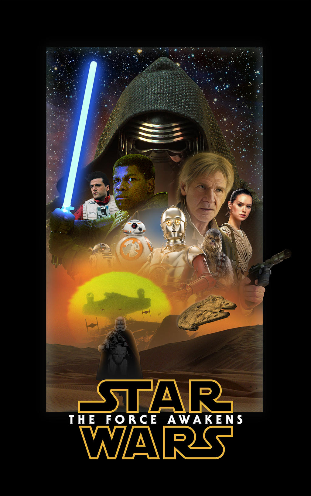 Star Wars The Force Awakens Poster by dan-zhbanov
