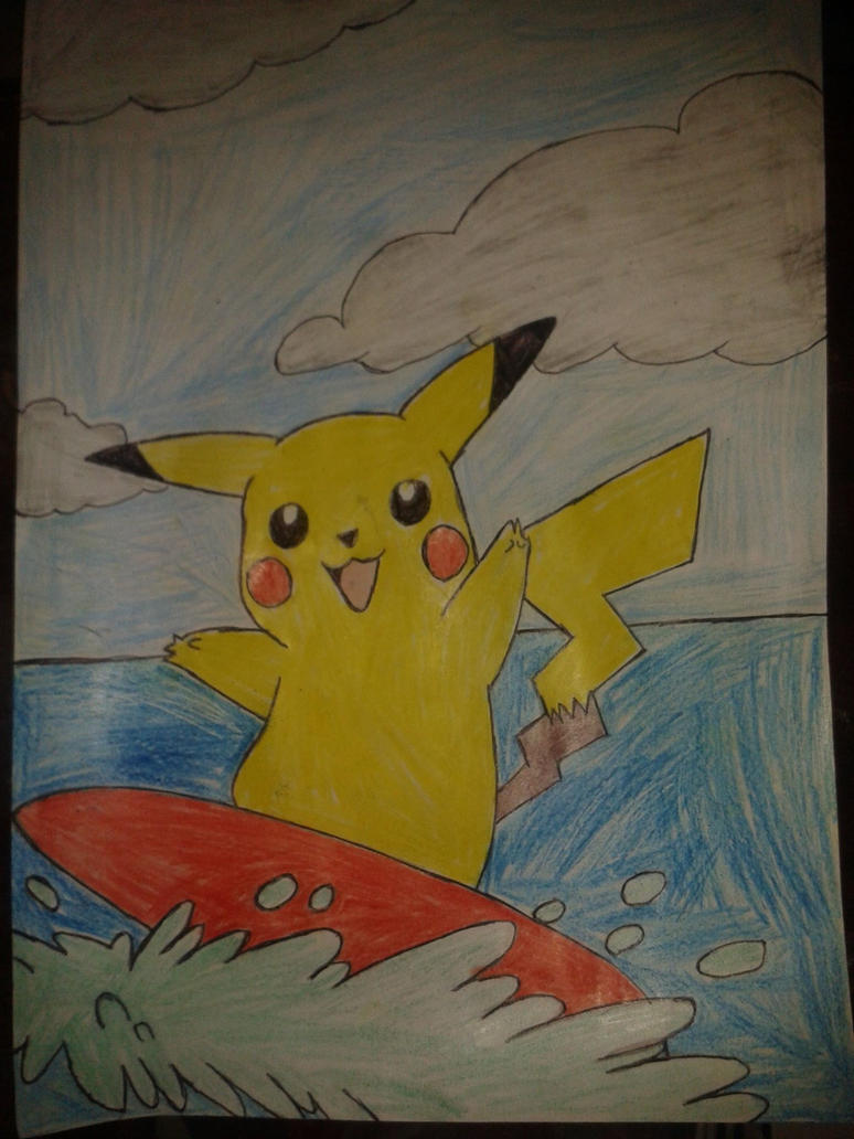 pikachu surfing by jack9730
