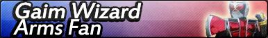Kamen Rider Gaim Wizard Arms Fan Button