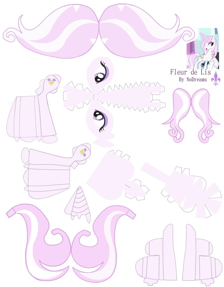 Fleur de Lis papercraft by NoDreams