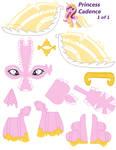 Princess Cadence papercraft part 1