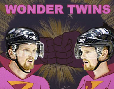 Sedins are Wonder Twins by threedeez