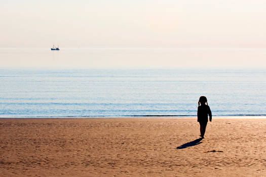 The Small Girl and the Sea