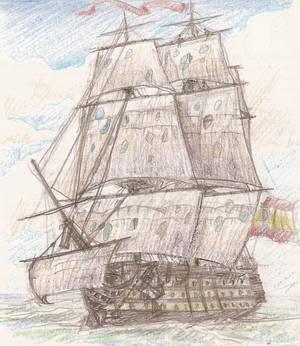 Three decker Ship of the line