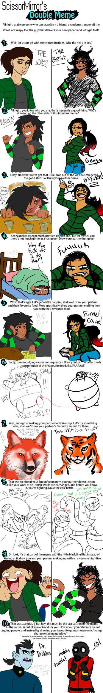 Double Meme with me pal Raven :D by KevinAF123