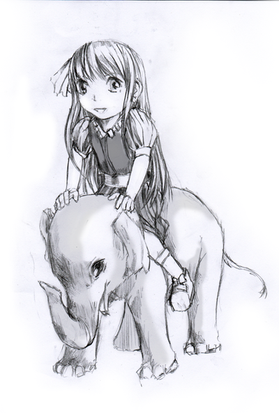 girl and the elephant by lordless on deviantart