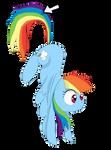 Click on Rainbow dash.