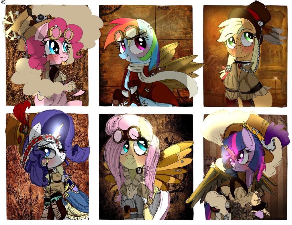 Steampunk ponies. by MissPolycysticOvary