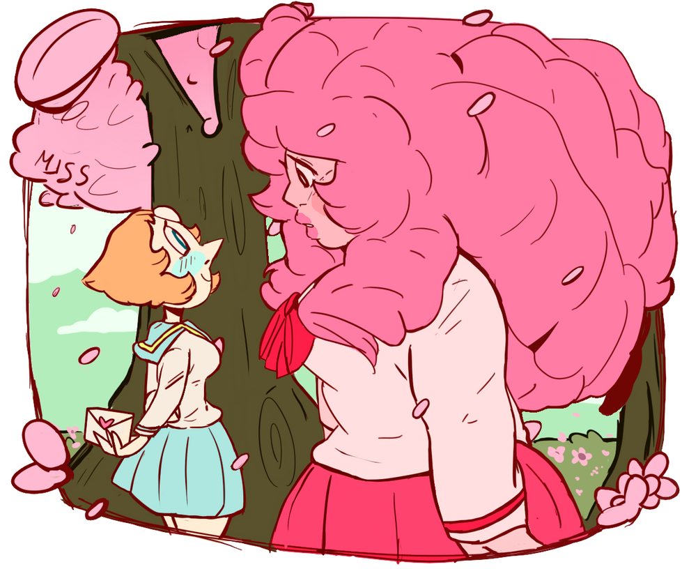 Pearl decided to confess her feelings for Rose senpai on valentine's day! will her feelings be reciprocated?