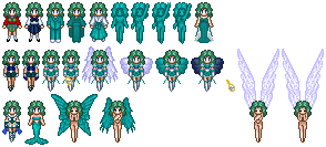 Sailor Neptune Sprites by Honest-Beauty