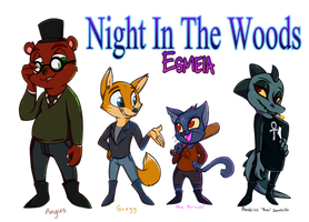Night In The Woods Squad by TheSoleil