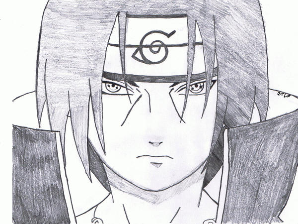 itachi uchiha drawing by flamingguitar14