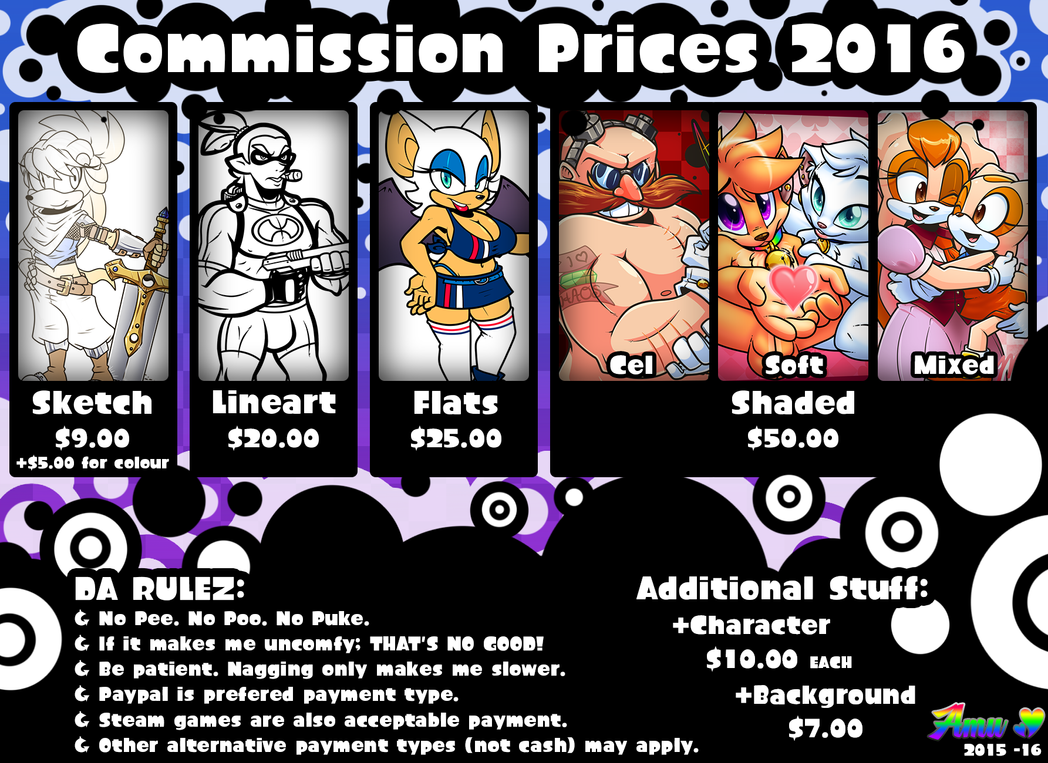 Commission Prices 2016 by Amuzoreh