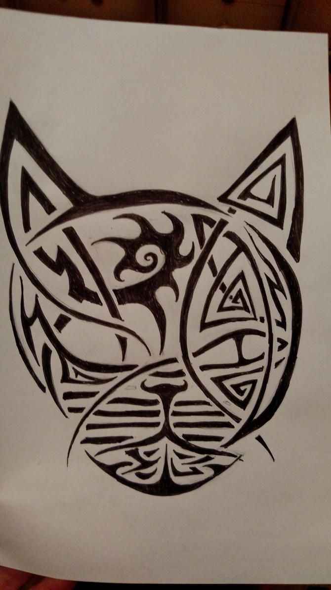 Tribal Cat Design by Lynx38