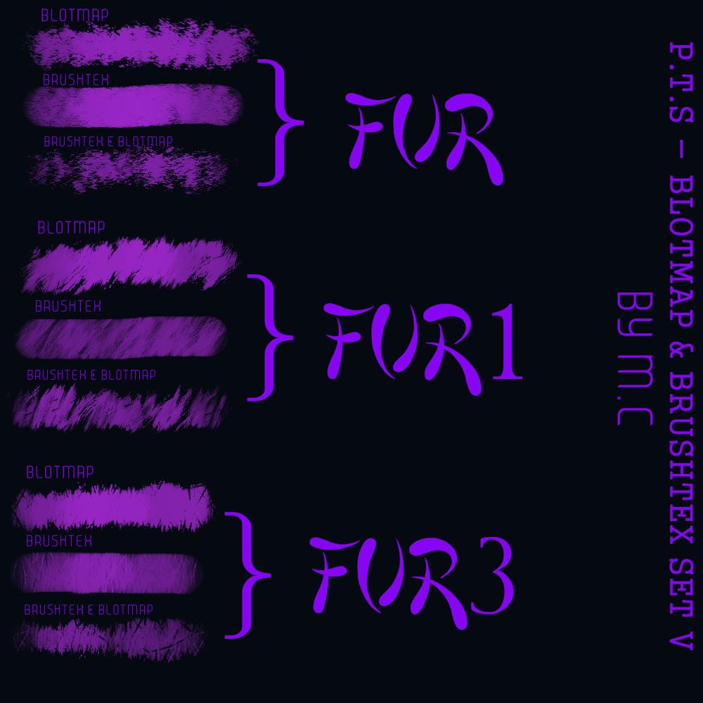 P.T.S - blotmap  brushtex set V by K-OG