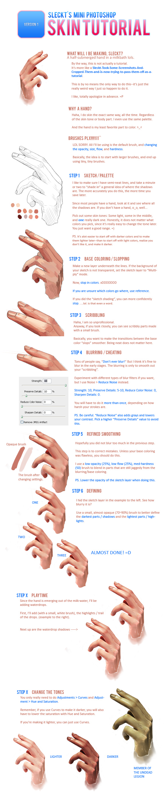 Coloring Skin Tutorial by sleckt