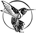 Hummingbird tribal tattoo
