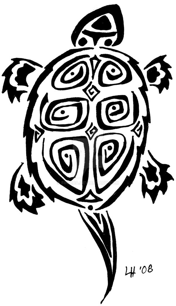 Tribal Turtle Drawings Turtle tribal tattoo b...
