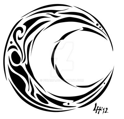 tribal moon 2 by finaira on deviantart
