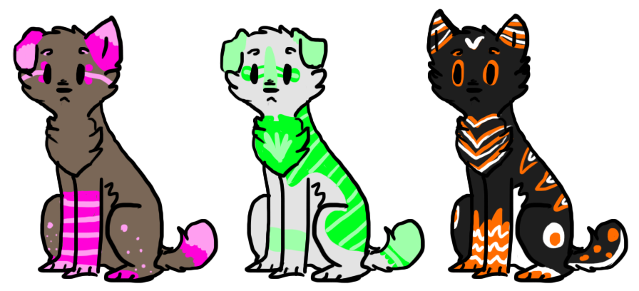 Adoptables (10 points each) by TLartist
