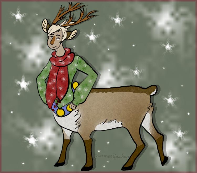 Centaur Reindeer Adoptable {open} by PurrincessBunbun