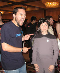 Wil Wheaton meets Wesley Crusher